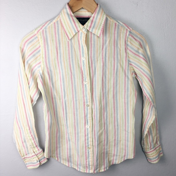 d8ae2c45c Brooks Brothers Tops - Brooks Brothers striped Irish linen shirt
